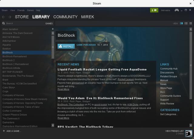 Hra BioShock pre inštaláciou v Steam-e