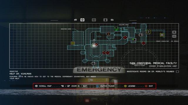 Mapa z hry Alien: Isolation s použitím ovládača