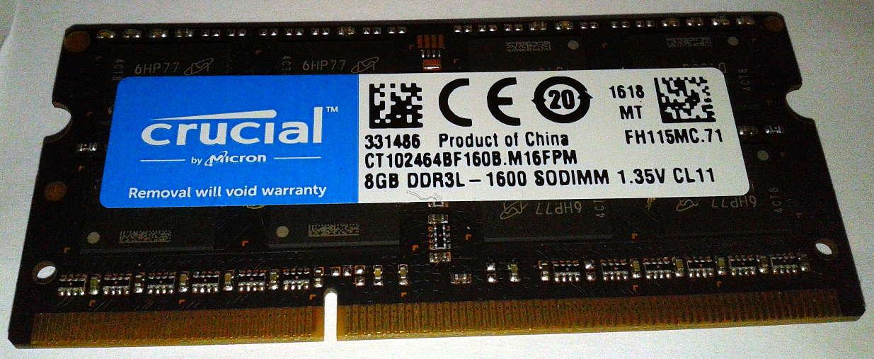 Crucial DDR3L 8GB