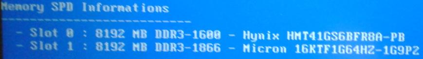 Výpis z Memtest x86: Crucial je vlastne Micron