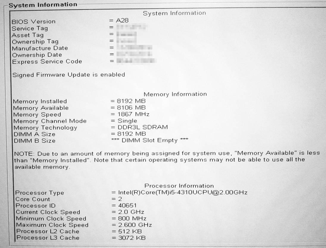 Rýchlosť RAM 1867MHz s i5-4310U
