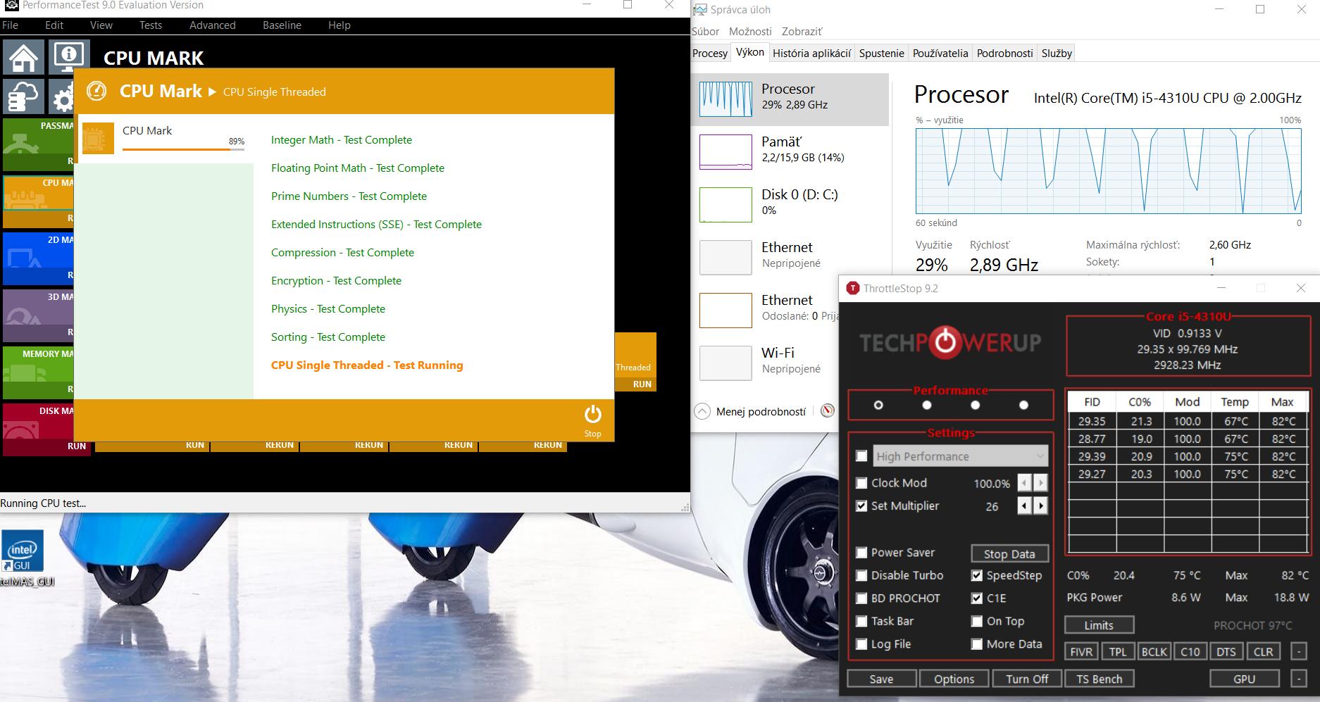 ThrottleStop - zistené dôvody obmedzenia rýchlosti